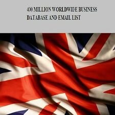 400 MILLION Worldwide Business Database and  Mailing Email List Email Marketing