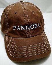 PANDORA RADIO hat cap music genome project brown strapback adjustable internet