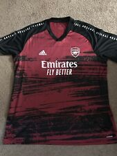 🔥Adidas Arsenal Fc 2020-2021 Elite Prematch Training Soccer Jersey Red 3Xl🔥