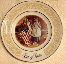 Vintage 1973 Avon Betsy Ross, Us Flagmaker Collector Plate