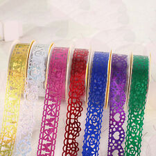 Lace Roll DIY Washi Decorative Sticky Ribbon Masking Tape Self Adhesive BH