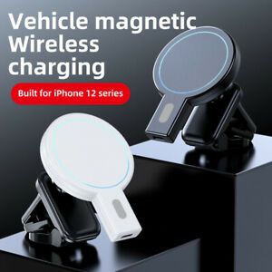 15W Magnetic Wireless Car Air Vent Fast Charger Holder Mount For iPhone 12 Pro