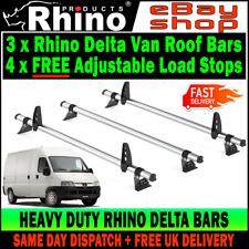 Peugeot Boxer Roof Rack Bars x3 Rhino Used For Ladders Fit HIGH-H2 1995-2006 Van