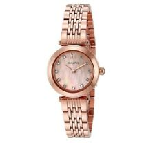 Bulova Women's 97P116 Quartz Diamond Markers Rose Gold Bracelet 24mm Watch