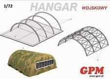 Militaire hangar 1:72 scale model kit (découpe Set)