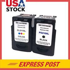 2 PK PG-210XL CL-211XL Black & Color Ink For Canon PIXMA MP240 MP250 MP270 MX360