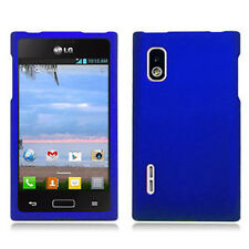 For LG Optimus Extreme L40G Rubberized HARD Case Snap On Phone Cover Blue