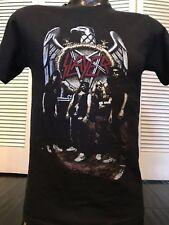 Rare Slayer Aggression Tour Shirt Sz S Rock Metal Sabbath Exodus Anthrax Priest