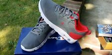 Boys Size 1.5 Youth Grey/Red Champion Sneaker Shoes Nib