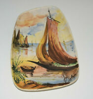 Italy design Keramik Wandbild signiert 60s 70s  Vintage artpottery MCM