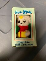 Snow Bells Vintage Porcelain Bell Christmas Ornament By Giftco With Tag And Box