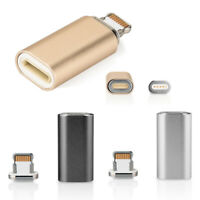 3X Magnetic Adapter Charger Micro USB FAST Charging Adapter for Apple iPhone IOS