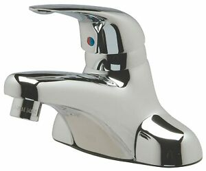 "Zurn AquaSpec 4"" Centerset Lever Handle Commercial Low Arc Bathroom Faucet"