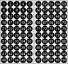 100 PVC Cerchi Numerato Nero 1-100 15mm Punti Colla Adesivo Pellicola Punti