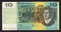 Australia R-312. (1990) Fraser/Higgins - 10 Dollars. SOLID Serials 444444.  aVF