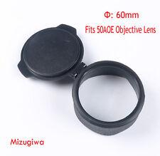 60mm Dustproof Flip Open Rifle Scope Cover Cap for 50AOE OBJ Objective Lens