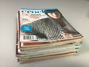 23 Vintage Crochet Knitting Quilting Craft Magazines