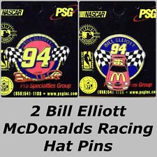 CLASSIC Lot 2 Different Bill Elliott _ McDONALDS RACING COLLECTOR HAT LAPEL PINS