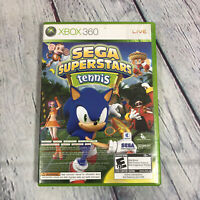 Sega Superstars Tennis Xbox 360 Game & Xbox Live Arcade Disc Tested and Working