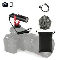 Cardioid Shotgun Microphone Kit Compact On Camera Micro DSLR MIC Video Phone