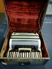 Vintage Scandalli accordion model 461/52 w/case 120 bass 11-4 shifts