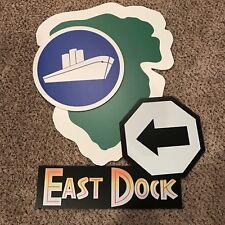 Jurassic Park / World East Dock Sign Prop Kit