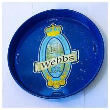 Bandeja Publicidad Cerveza Vintage Bass Webbes Ligero From U. K. Años ' 70