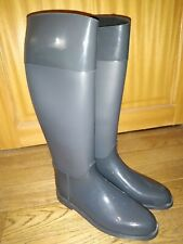 Bottes de pluie cavalières P41 grises neuves fabriqué en Italie