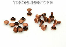 7mm Diameter Antique Copper Plated Compression Rivets Package of 12