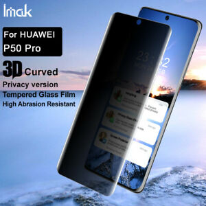 IMAK 3D Curved Full Coverage anti-spy Tempered Glass Flim For Huawei P50 Pro