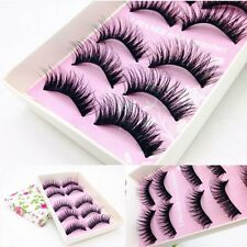 10Pc Luxurious 3D False Eyelashes Cross Natural Long Eye Lashes Makeup 1 Set