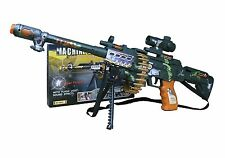2 x Combat3 / Kids Electric Toy Machine Gun With Sound, Light And Vibration 62cm