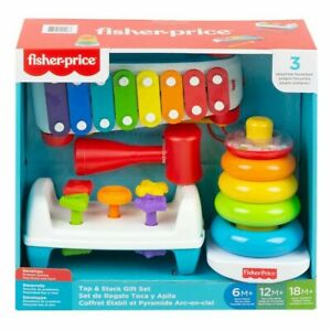 Fisher Price Classic Bundle Tap And Stack Gift Set - 3 Pack 6mth to 18mth
