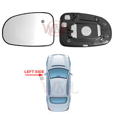 TOYOTA AVENSIS 2009->2014 DOOR MIRROR GLASS SILVER CONVEX,HEATED & BASE,LEFT