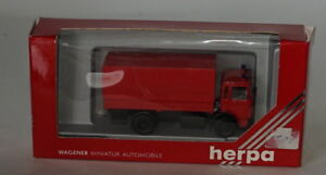 Herpa 820034 M.A.N. Feuerwehr Flatbed Canvas Fire Truck 1/87 Scale Plastic