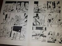 Original comic art page lot Paul Sharar sexy Love and Rockets fan Chromasomas