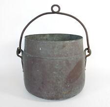 Large Primitive Antique Marked Copper Cooking Apple Butter Cauldron Pot Kettle