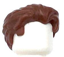 Lego New Male Reddish Brown Minifig Hair Swept Back with Slight Widow's Peak