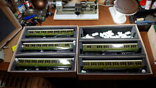 Ace/Darstaed O Gauge 2/3 Rail 5 SR Suburban Non-Corridor Coaches Olive Lined Lit