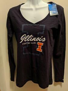 Illinois Fighting Illinis Women's XS Long Sleeved V Neck Shirt NWT