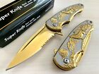 """8"""" Wolf Tactical Spring Assisted Open EDC Blade Folding Survival Pocket Knife"""