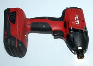 "HILTI SID 18 A LITHIUM-ION 1/4"" Impact Drill Driver w/ 18v 2.6 Ah Battery Works"