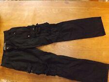 """Para Hombre Negro Algodón Cargo Pantalones Tamaño 34"""" longitud 33"""" (£ 29.50) NUEVO"""