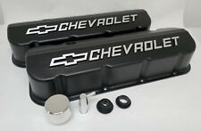 Big Block Chevy NOS Valve Covers, Black Powder Coated, W/ Billet Breather, PCV