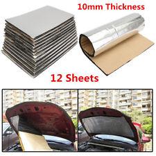12Pcs 10mm Car Firewall Sound Deadener Heat Insulation Deadening Material Mat