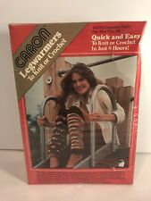 Vintage Caron Dyi Legwarmers to Knit or Crochet H4316 Cinnamon Spice New