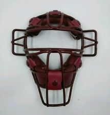 Diamond Standard Baseball Umpire Catcher Face Mask Maroon DFM-15 Protective
