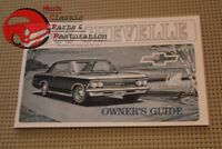 1966 66 El Camino Chevelle Owners Owner's Manual
