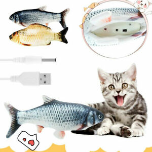 Flippity Fish Realistic Cat Toy Electric Floppy Moving Catnip Toy Flopping