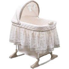 Baby Rocking Bassinet Newborn Crib Cradle Nursery Rolling Bed Furniture Canopy